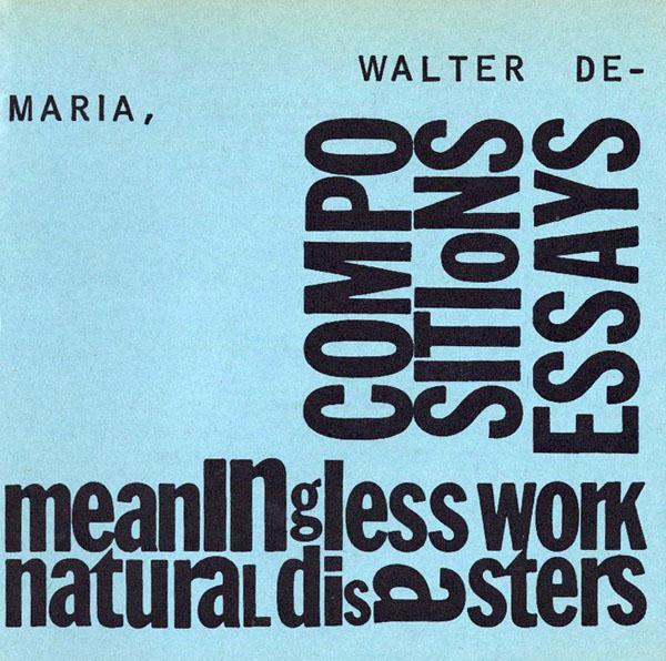 Walter De Maria 1