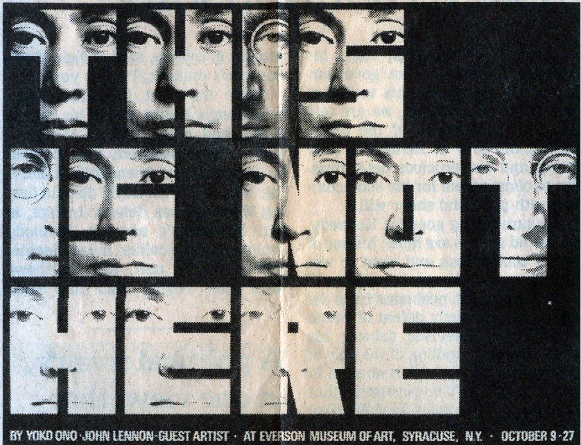 A 1971 poster by George Maciunas, for Yoko Ono's