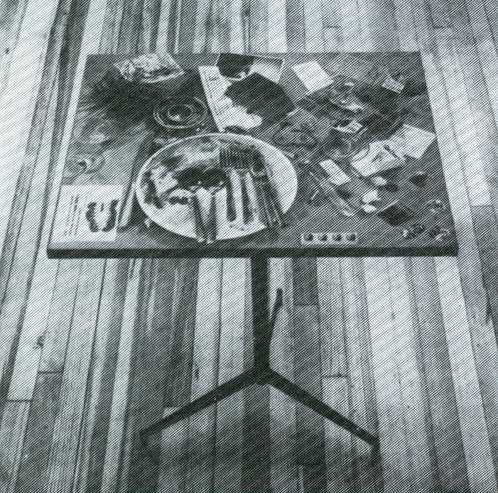 Daniel Spoerri, Fluxtabletop, c. 1966-68. Photo by George Maciunas. Courtesy The Gilbert and Llla Sllverman Fluxus Collection Foundation.